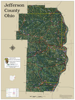 Jefferson County Ohio 2021 Aerial Wall Map