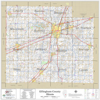 Effingham County Illinois 2021 Wall Map