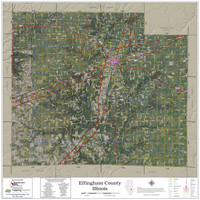Effingham County Illinois 2021 Aerial Wall Map