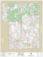 Smith County Mississippi 2021 Wall Map