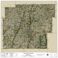 Hancock County Indiana 2021 Aerial Wall Map