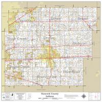 Hancock County Indiana 2021 Wall Map