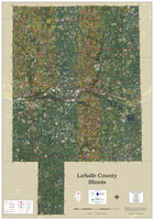 LaSalle County Illinois 2021 Aerial Wall Map
