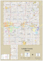 LaSalle County Illinois 2021 Wall Map