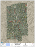 Lawrence County Mississippi 2021 Aerial Wall Map