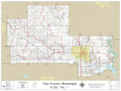 Clay County Mississippi 2021 Wall Map