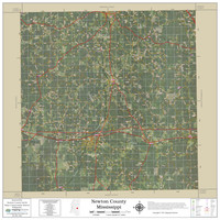 Newton County Mississippi 2021 Aerial Wall Map