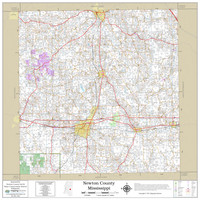 Newton County Mississippi 2021 Wall Map