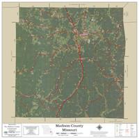 Madison County Missouri 2021 Aerial Wall Map