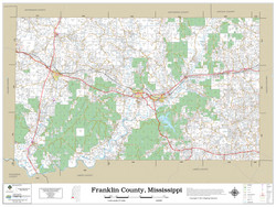 Franklin County Mississippi 2021 Wall Map