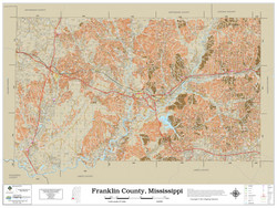 Franklin County Mississippi 2021 Soils Wall Map