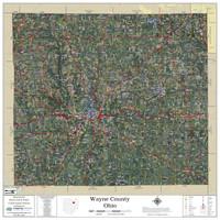 Wayne County Ohio 2021 Aerial Wall Map