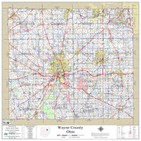 Wayne County Ohio 2021 Wall Map