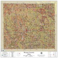 Wayne County Ohio 2021 Soils Wall Map