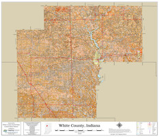 White County Indiana 2021 Soils Wall Map