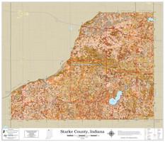 Starke County Indiana 2021 Soils Wall Map