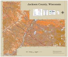 Jackson County Wisconsin 2021 Soils Wall Map