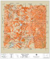 Lake County Michigan 2021 Soils Wall Map