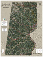 Dearborn-Ohio County Indiana 2021 Aerial Wall Map