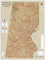Dearborn-Ohio County Indiana 2021 Soils Wall Map
