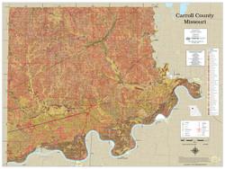 Carroll County Missouri 2021 Soils Wall Map