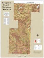 Houghton Keweenaw Counties Michigan 2021 Soils Wall Map