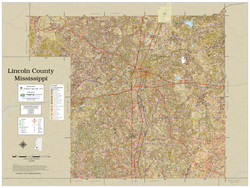 Lincoln County Mississippi 2021 Soils Wall Map