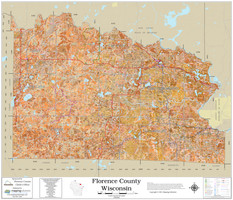 Florence County Wisconsin 2021 Soils Wall Map