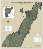 Door County Wisconsin 2022 Aerial Wall Map