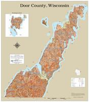 Door County Wisconsin 2022 Soils Wall Map