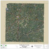 Kalkaska County Michigan 2021 Aerial Wall Map