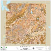Kalkaska County Michigan 2021 Soils Wall Map