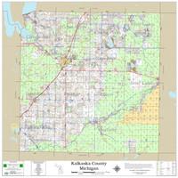 Kalkaska County Michigan 2021 Wall Map