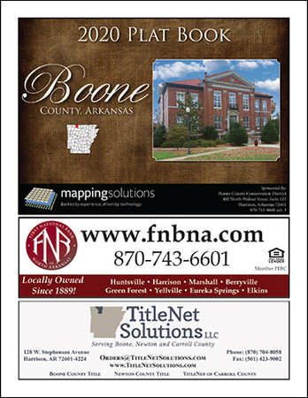 Boone County Arkansas 2020 Plat Book