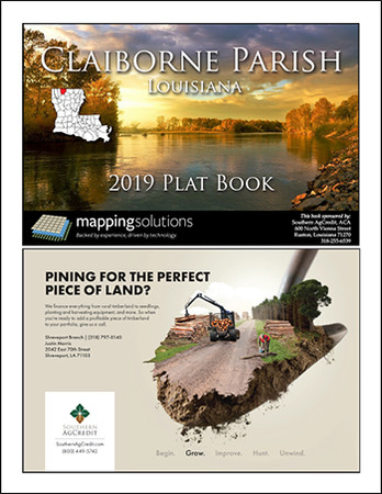 Claiborne Parish Louisiana 2019 Plat Book