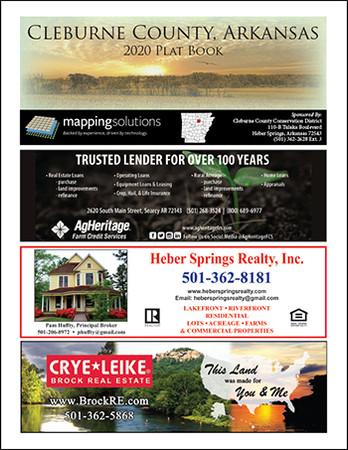 Cleburne County Arkansas 2020 Plat Book