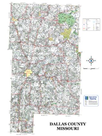 Dallas County Missouri 2008 Wall Map on
