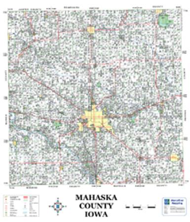 Mahaska County Iowa 2008 Wall Map