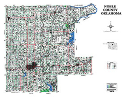 Noble County Oklahoma 2006 Wall Map