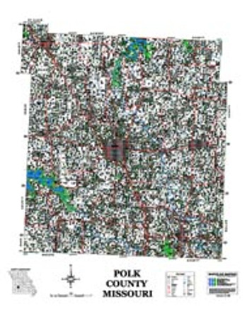 Polk County Missouri 2006 Wall Map