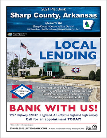 Sharp County Arkansas 2021 Plat Book
