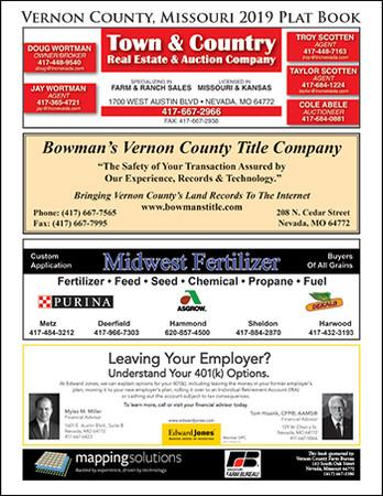Vernon County Missouri 2019 Plat book