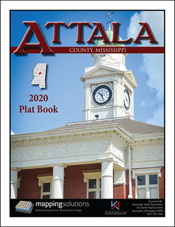 Attala County Mississippi 2020 Plat Book