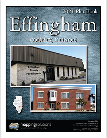 Effingham County Illinois 2021 Plat Book