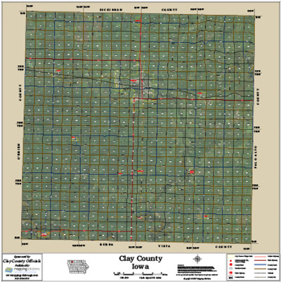 Clay County Iowa 2015 Aerial Map