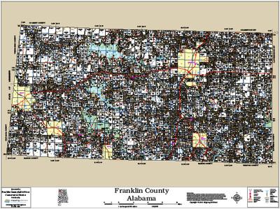Franklin County Alabama 2014 Wall Map