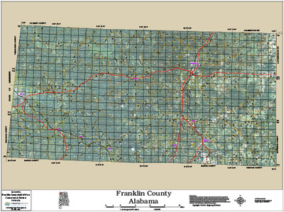 Franklin County Alabama 2014 Aerial Map
