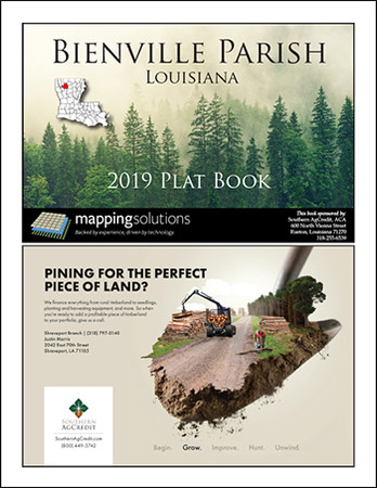 Bienville Parish Louisiana 2019 Plat Book