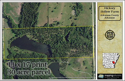 Example of a 11x17 Aerial Property Map 30 acre parcel