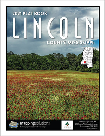 Lincoln County Mississippi 2021 Plat Book